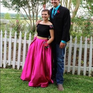 Sherri Hill prom dress/ prom dress/pink